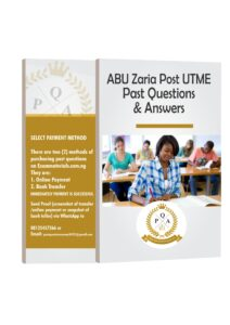 ABU Zaria Post UTME Past Questions