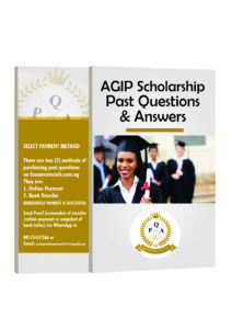AGIP Scholarship Past Questions and Answers PDF