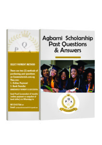 Agbami Scholarship_PAST QUESTIONS
