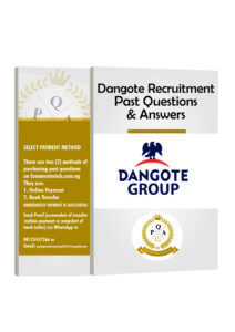 Dangote Recruitment Test Past Questions And Answers PDF