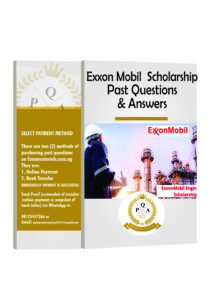 Exxon Mobil Scholarship Past Questions and Answers PDF