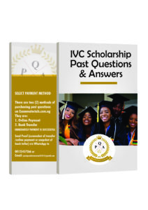 IVC Scholarship Past Questions And Answer Updated PDF