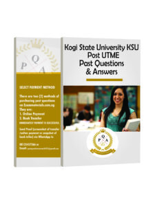 KSU Post-UTME PAST QUESTIONS