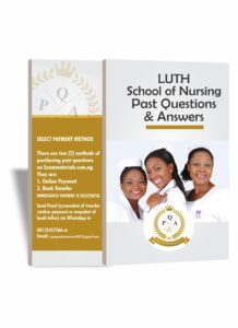 LUTH School Of Nursing Past Questions PDF Download