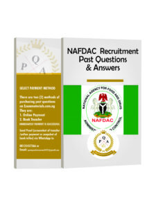 NAFDAC Recruitment Aptitude Test Past Questions