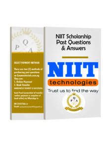 NIIT Scholarship Aptitude Test Past Questions PDF
