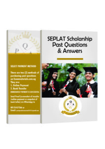 SEPLAT Scholarship Past Questions and Answers PDF