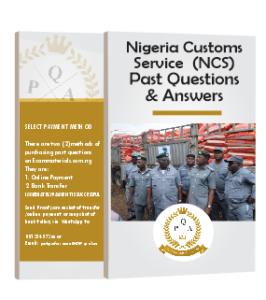 Nigerian Customs Recruitment NCS Past Questions