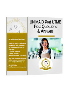 UNIMAID Post UTME PAST Questions