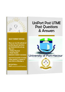 UNIPORT Post UTME Past Questions