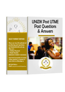 UNIZIK Post UTME Past Questions and Answers  PDF