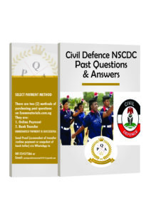 Civil Defence NSCDC Recruitment Past Questions and Answers PDF