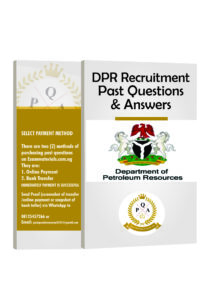 DPR Recruitment Aptitude Test Past Questions