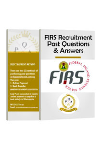 FIRS Recruitment Aptitude Test Past Questions And Answers PDF