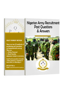 Nigerian Army Recruitment Past Questions