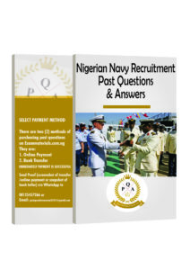 Nigerian Navy Recruitment Past Questions and Answers PDF