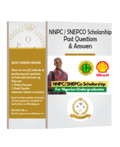 NNPC/SNEPCO Scholarship Past Questions and Answers PDF