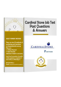 Cardinal Stone Aptitude Test Past Questions