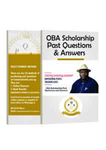 OBA Scholarship past questions