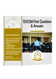 TESCOM Recruitment CBT Exams Past Questions And Answers PDF