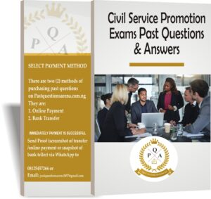 Civil Service Promotion Exams Past Questions And Answers PDF