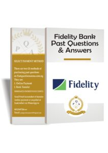 Fidelity Bank Recruitment Past Questions and Answers Download 2021