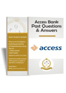 Access Bank Past Questions And Answers   Download Up to Date PDF