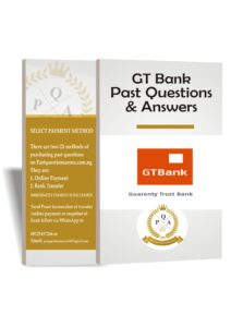 Guaranty Trust Bank (GTB) Past Questions and Answers   GTBank Aptitude Test Questions