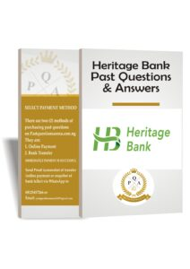 Heritage Bank Past Questions And Answers Download PDF