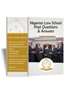 Nigerian Law School Past Questions | Law School Exam Past Questions & Answers
