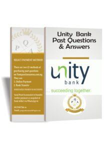 Unity Bank Past Questions And Answers   Download PDF Up to Date