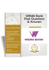 WEMA Bank Aptitude Test Past Questions And Answers   Updated PDF