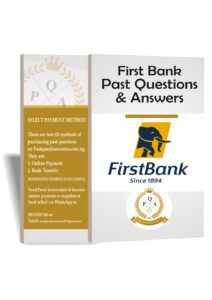 First Bank Aptitude Test Past Questions And Answers PDF